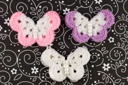 Ladybugs and Lullabies Crochet Butterfly Pink