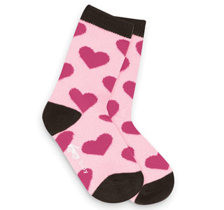 See Kai Run Happy Hearts Pink Socks