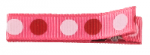 Clipettes Prints - Dots Shocking Pink (2 Clips)