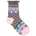 Country Kids Heart Dot Sock Mocha